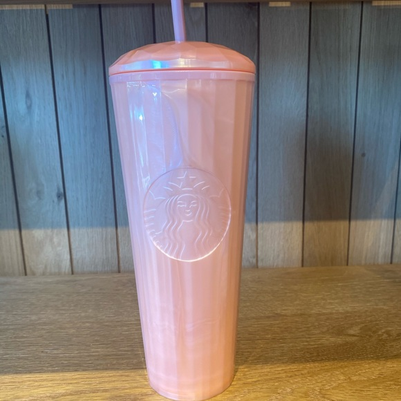 Starbucks Dome Tumbler Cold Cup Peachy Pink Salmon